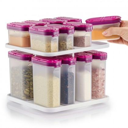 Tupperware Modular Spice Set (16 pcs) + Modular Spice Carousel (1)