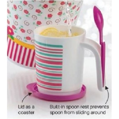 Tupperware Blushing Pink Mug Set (2) 350ml