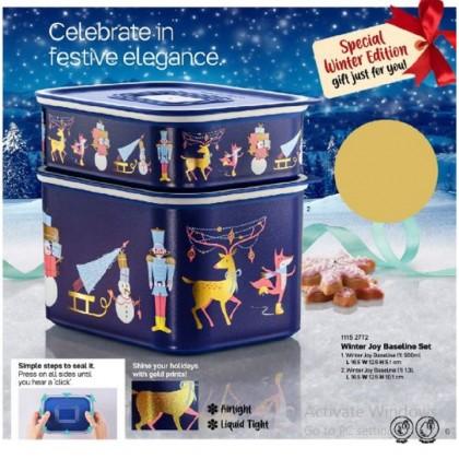 Tupperware Winter Joy Baseline Set (2) 500ml & 1.3L
