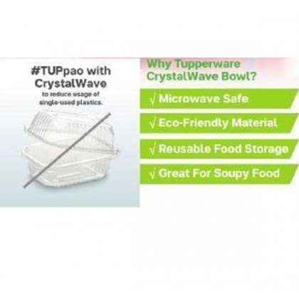 Tupperware Crystalwave Bowl (2) 600ml