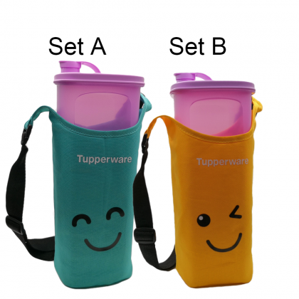 Tupperware Fridge Water Bottle (1) 2.0L + Pouch (1)