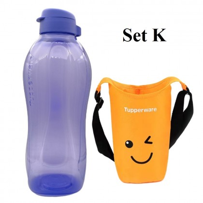 Tupperware The Giant Eco Bottle (1) 2.0L + Pouch (1)