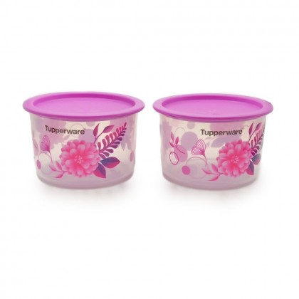 Tupperware Camellia One Touch Topper Junior (2) 600ml