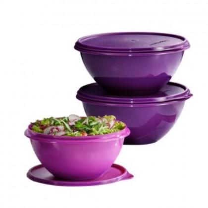 Tupperware Round Wonderlier Bowl 1.7L (1), 2.5L (2)