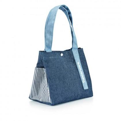 Tupperware Blue Jeans Satchel (1)