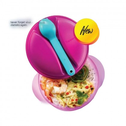 Tupperware Lunch Bowl (1) 800ml with Fork & Spoon