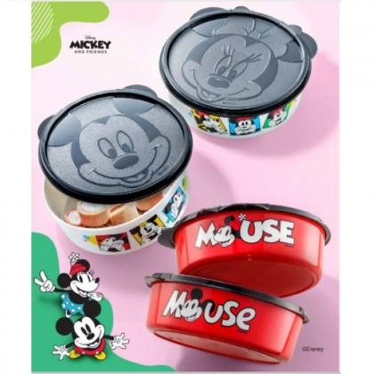 Tupperware Mickey & Minnie Handy Bowl (2) 700ml