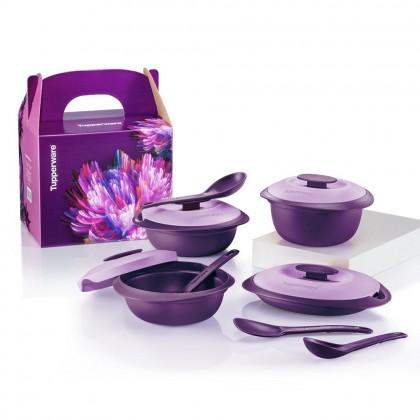 Tupperware Purple Royale Serveware Set
