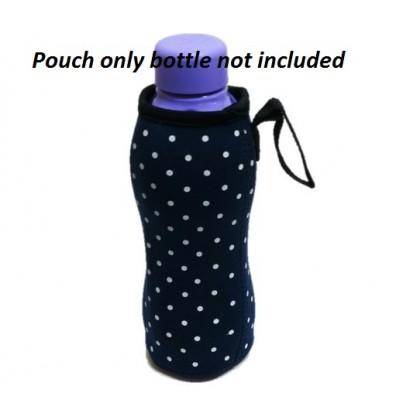 Pouch for 500ml Bottle - Polk Dot Dark blue