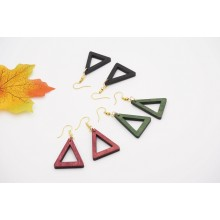 CL Fashion Earring Wood Triangle Shape (1 pair)