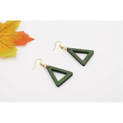 CL Fashion Earring Wood Triangle Shape (1 pair)