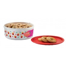 Tupperware Cookie Canister (1) 1.75L-Red