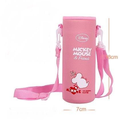 Pouch for 500ml Bottle (1) - Pink Mickey Mouse