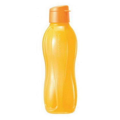 Tupperware Eco Bottle Flip Top (1) 1.0 L (Yellow)  + Camouflage Pouch (1)