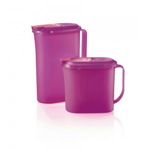 Tupperware Handy Drinking Set (1x1.0L, 1x2.0L)