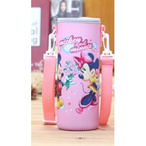 Pouch for 500ml Bottle (1) - Pink Mickey and Minnie