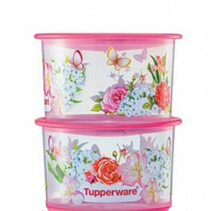 Tupperware One Touch Spring Garden Topper Junior (2) 600ml