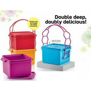 Tupperware Double Deep with Cariolier 1.7L (1 set)