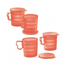 Tupperware Open House Mugs & Seal (4) 350ml