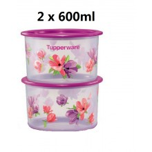 Tupperware Garden Blooms One Touch Topper Junior (2) 600ml