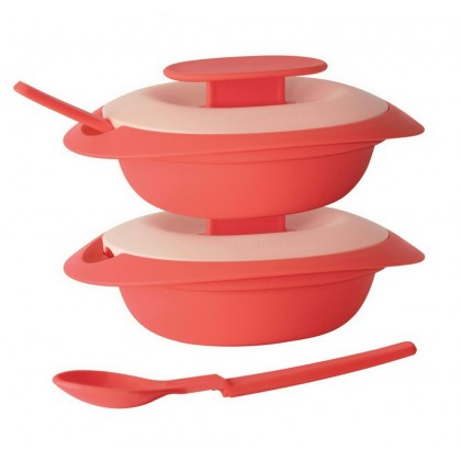 Tupperware Sambal Dish with Spoon (2) 110ml