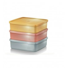 Tupperware Glitteria Large Square Away (3) 620ml