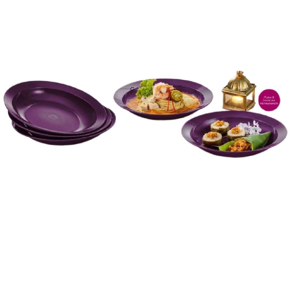 Tupperware Purple Royale Deep Plate (4) 550ml