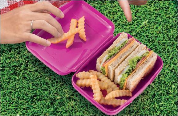 Tupperware Slim Sandwich Keeper (1) - Pink