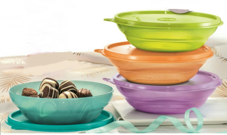Tupperware Fun Bowls (4) 450ml