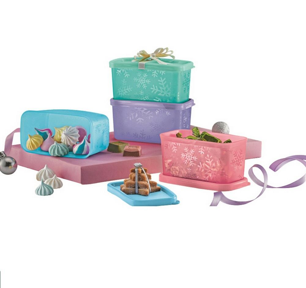 Tupperware Precious Snowflakes Gift Set (4pcs) 200ml