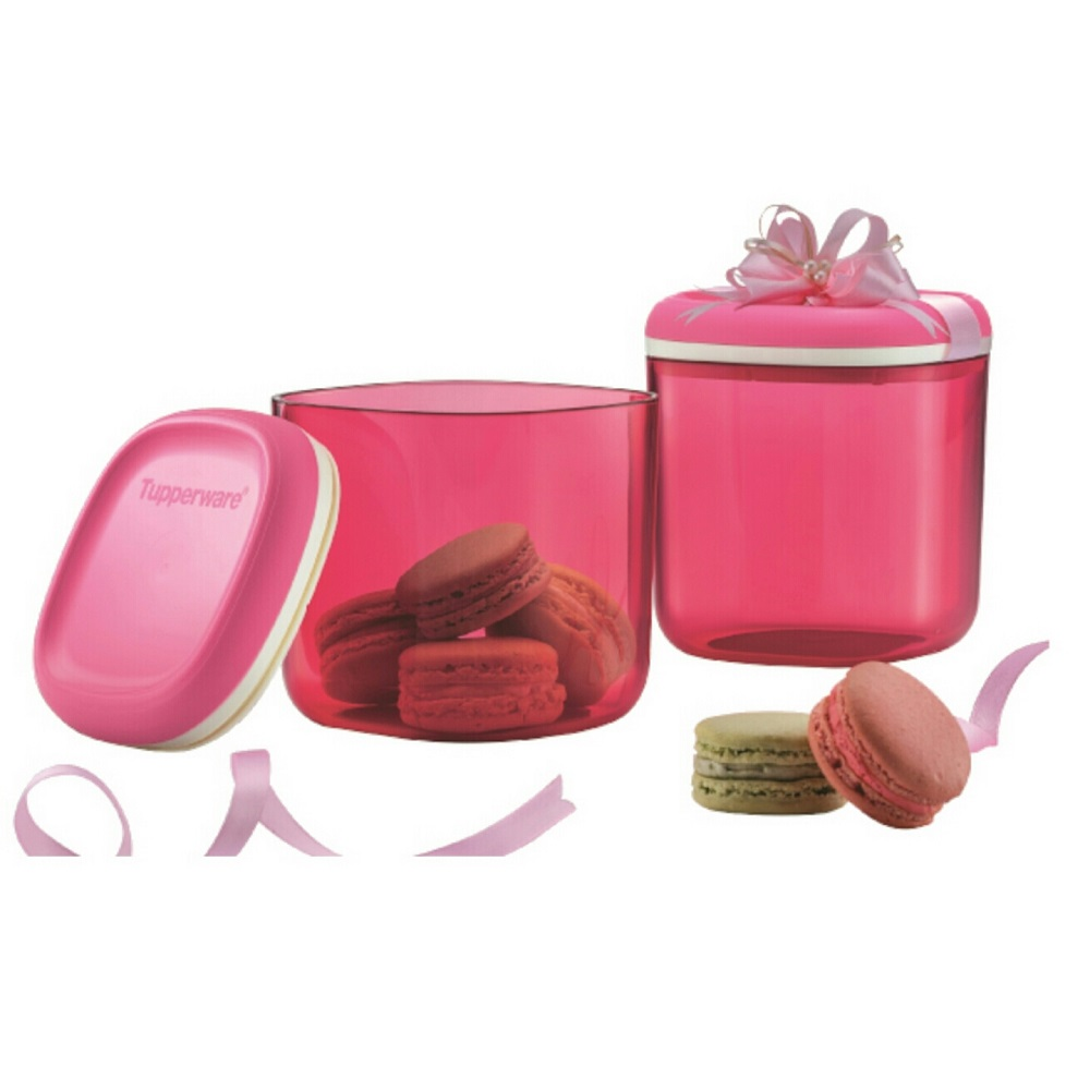 Tupperware  Crystalline Canister Set (2) 780ml