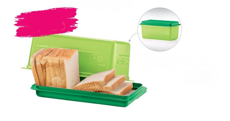 Tupperware Bread Server (1) 3.0L - Green