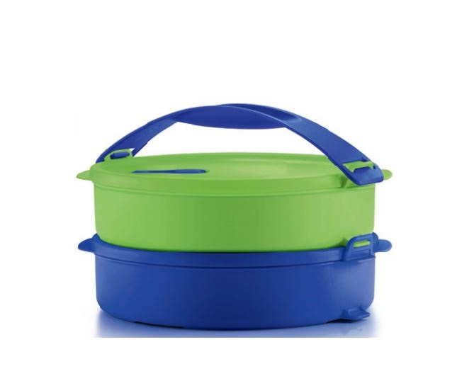 Tupperware Microwaveable Round Click To Go (2) 880ml