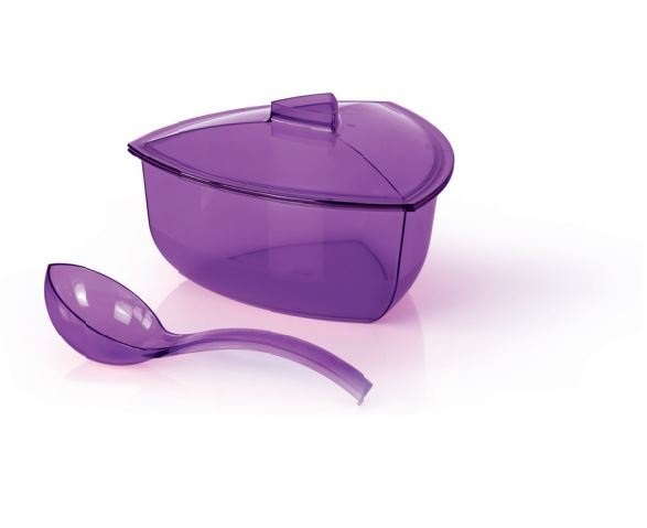 Tupperware Roza Bowl with Ladle (1) 2.2L