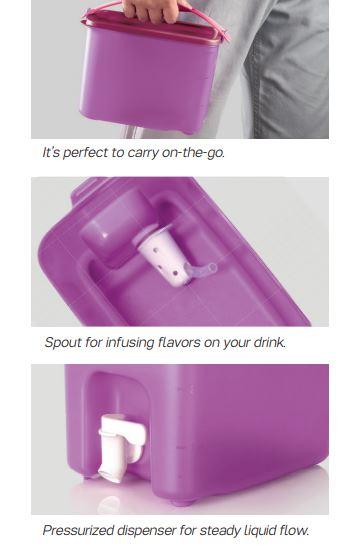 Tupperware Click To Go Beverage Dispenser (1) 3.0L