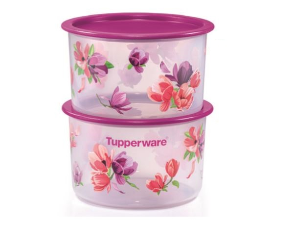 Tupperware Garden Blooms One Touch Topper Small (2) 950ml