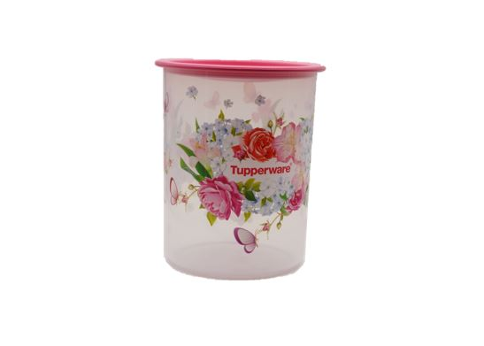 Tupperware Spring Garden One Touch Canister Junior (1) 1.25L